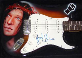Howard Stern Autographed Airbrushed Signed Guitar PSA DNA UACC RD COA