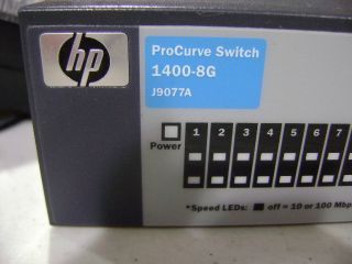 HP ProCurve 1400 8g J9077A 8 Port Gigabit Ethernet Switch