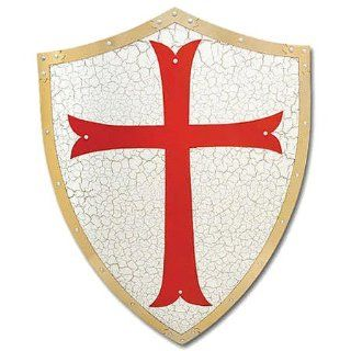 Medieval Knight Crusader Red Cross Armor Battle Shield