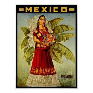 Paricutin Volcano Mexico ~ Vintage Mexican Travel Print