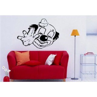Wall DECAL Vinyl Sticker Art Design FUNNY CLOWN S 3537