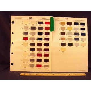 1988 88 TOYOTA IMPORT Paint Colors Chip Page Toyota Motor Corporation