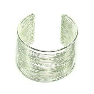 Brass Wire Wrap Cuff: Jewelry: