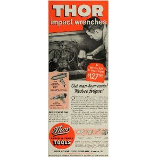 1956 Ad Thor Power Tool Co Electric Portable Wrenches