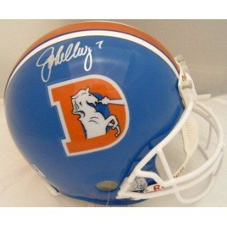 John Elway SIGNED F/S Proline GAME Broncos Helmet: Sports