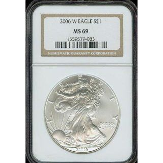 2006 W Silver Eagle NGC MS69 Burnished Planchet
