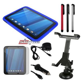 Accessories Combo for HP Touchpad Tablet Skin Case Car Wall Charger
