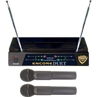 Encore Duet 2 Channel VHF Wireless Dual Microphone System