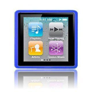 Modern Tech Blue Soft Gel Case for Apple iPod Nano 4 6G