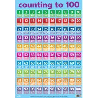 Numbers 1 100 (Wall Charts) (9781859972854): Books
