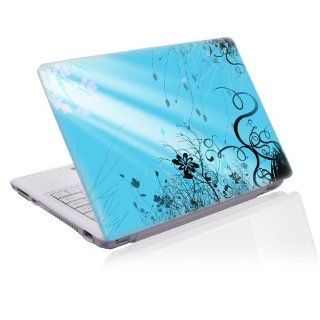 17 inch Taylorhe laptop skin protective decal blue floral