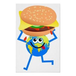 Hombre del globo del mundo del dibujo animado que sostiene un