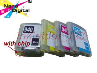 Refillable 940 Ink Cartridge Set for HP Office Jet Pro Printer