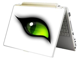 Bundle Monster Laptop Notebook Art Skin Decal Fits HP Dell Asus Green