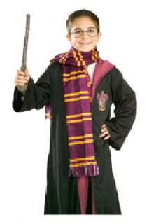 Harry Potter House of Gryffindor Colors Crest Basic Costume Scarf New