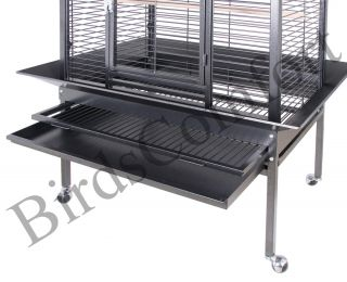 HQ Parrot Bird Cages 24032 Large Arch Open Top Bird Cage 40x32 Toy