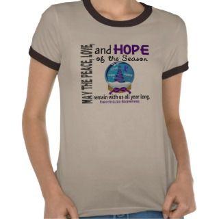 Christmas Holiday Snow Globe 1 Fibromyalgia Tee Shirt