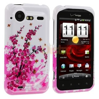 Pink Flower Case Cover for HTC Droid Incredible 2 6350