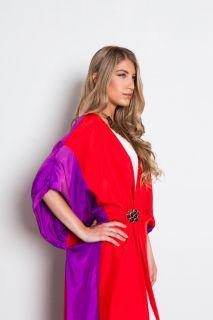 vtg vintage 1970s does 1920s silk draped duster jacket kimono coccoon