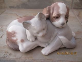 Lladro Bossom Buddies Dog and Cat Retired Juan Huerta