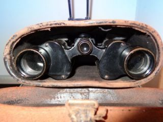 Antique Early 20thC French Huet 8x Postbellum 44838 Binocular