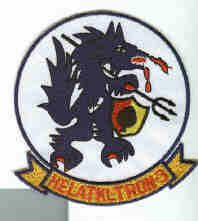 Hal 3 Seawolves Vietnam Era UH 1 Huey Helicopter Navy Squadron Patch