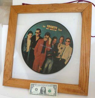 84 Huey Lewis Record Framed 1984 Sports Tour Picture Disc Vinyl Album