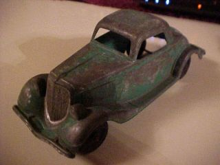 404 Hubley Car 1936 Ford Coupe Original Green Paint USA