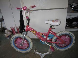 Girls 14 Huffy Disney Princess Bike with Training Wheels