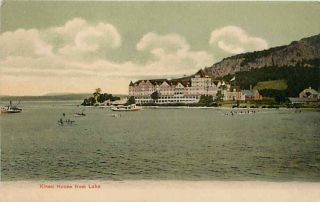 Mount Kineo Maine Me 1905 Kineo House Hotel Moosehead Lake Vintage