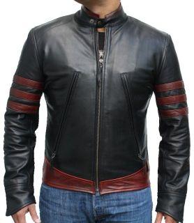 Leather Next Wolverine x Men Origins Hugh Jackman Leather Jacket Red