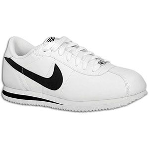 Nike Cortez   Mens   Running   Shoes   White/Black/Metallic Silver