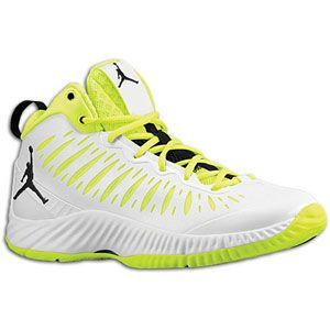 Jordan Super.Fly   Mens   Basketball   Shoes   White/Black/Volt