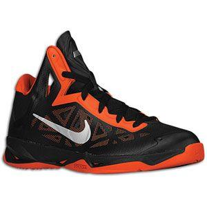 Nike Zoom Hyperchaos   Mens   Basketball   Shoes   Black/Team Orange