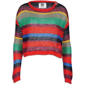 Southpole Multi Stripe Sweater   Womens   Casual   Clothing   Red