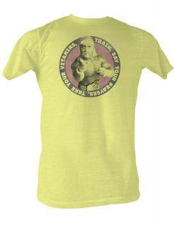 Hulk Hogan Vitamins Adult Tee Shirt s M L XL 2XL