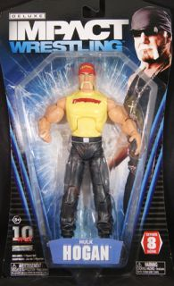 Hulk Hogan TNA Deluxe Impact 8 Toy Wrestling Action Figure