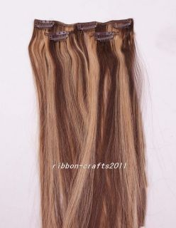 3pcs New Fashion Hot Clip in 100 Human Hair Extensions 36g 4 27