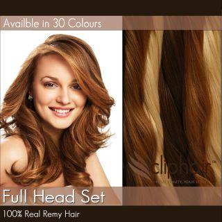 Full Head Premium Clip in Human Hair Extensions