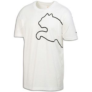 PUMA New Cat S/S T Shirt   Mens   Casual   Clothing   White
