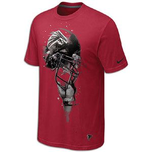 Nike NFL Tri Blend Helmet T Shirt   Mens   Atlanta Falcons   Gym Red