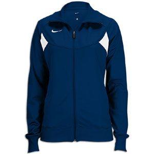 Nike Pasadena II Full Zip L/S Warm Up Jacket   Womens   Navy/White
