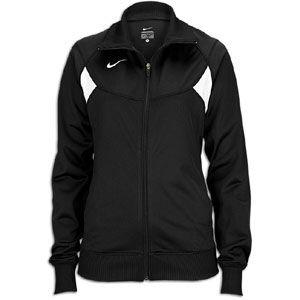 Nike Pasadena II Full Zip L/S Warm Up Jacket   Womens   Black/White