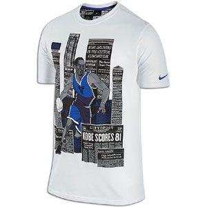 Nike Kobe Darko T Shirt   Mens   Basketball   Clothing   White/Game