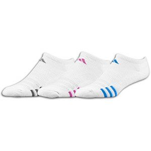 adidas Variegated 3 Pack No Show Sock   Womens   White/Vital Grape