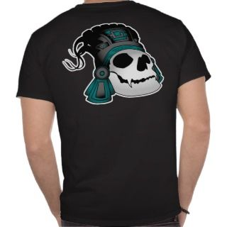 Aztec Warrior Skull T Shirts