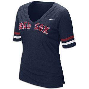 Nike MLB Fan T Shirt   Womens   Baseball   Fan Gear   Red Sox   Navy