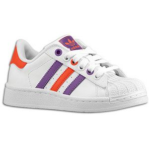 adidas Originals Superstar 2   Girls Preschool   White/Light Red/Lab