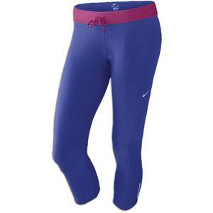 Nike Relay Capri   Womens   Running   Clothing   Night Blue/Rave Pink