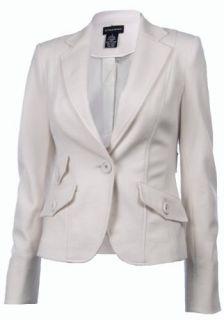Sutton Studio Womens Notch Collar Blazer Jacket Misses